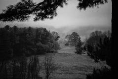 Niebla de la fragua del valle Foto de archivo libre de regalías