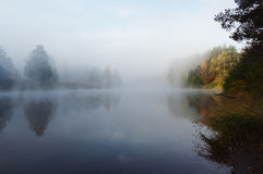 Niebla de la mañana Fotografía de archivo libre de regalías