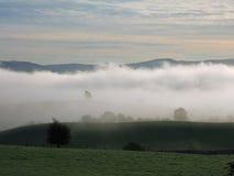 Niebla de la mañana Foto de archivo libre de regalías