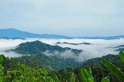 Niebla de la mañana en Kaeng Krachan foto de archivo libre de regalías