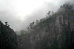 Niebla de la montaña Foto de archivo libre de regalías