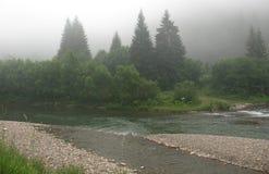 Niebla de la montaña Imagen de archivo