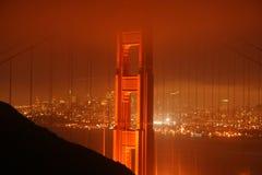 Puente Golden Gate en la noche Fotos de archivo libres de regalías