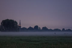 Niebla de tierra Foto de archivo libre de regalías