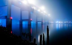 Niebla del azul de la costa Imagen de archivo libre de regalías