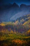 Niebla del otoño Fotografía de archivo