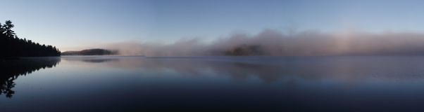 Niebla del panorama Fotos de archivo