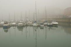 Niebla del puerto Imagen de archivo