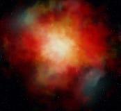 Niebla del rojo del espacio stock de ilustración