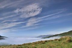 Niebla del valle Fotografía de archivo libre de regalías