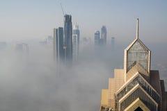 Niebla en Dubai Imagen de archivo