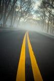 Niebla en el camino Fotos de archivo