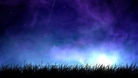 Niebla en el lazo del cielo nocturno metrajes