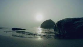 Niebla en el mar almacen de video