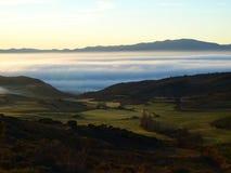 Niebla en el valle Fotografía de archivo libre de regalías
