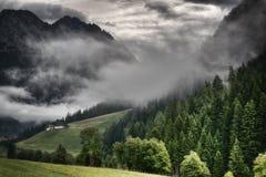 Niebla en el valle Fotografía de archivo