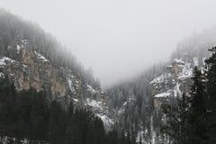 Niebla en la barranca Imagenes de archivo