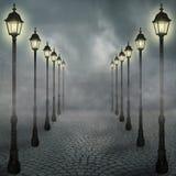 Niebla en la ciudad Imágenes de archivo libres de regalías