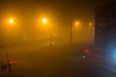 Niebla en la ciudad Fotografía de archivo