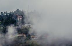 Niebla en Sighnaghi Fotos de archivo