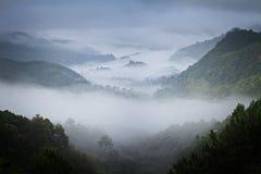 Niebla en Tailandia foto de archivo
