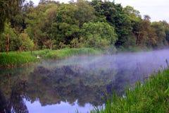 Niebla escocesa en el canal imagen de archivo libre de regalías
