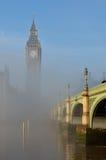 Niebla grande de Big Ben Imagen de archivo
