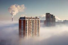 Niebla gruesa en el área de Moscú Fotografía de archivo libre de regalías