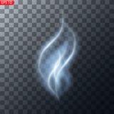 Niebla o efecto especial transparente aislado humo ilustración del vector
