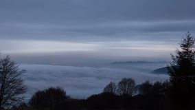 Niebla sobre ciudad almacen de video