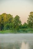 Niebla sobre el agua Imagen de archivo libre de regalías