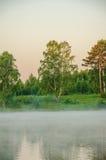 Niebla sobre el agua Fotografía de archivo