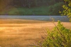 Niebla sobre el agua Imágenes de archivo libres de regalías