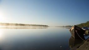 Niebla sobre el río Fotos de archivo libres de regalías