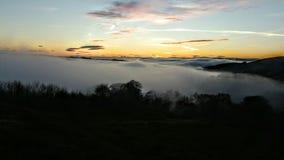 Niebla sobre Lennoxtown Fotografía de archivo