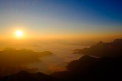Niebla soleada Imagen de archivo libre de regalías