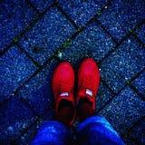 Niebo buty Obrazy Royalty Free
