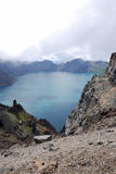 niebo changbaishan lake obraz stock