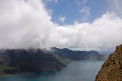 niebo changbaishan lake Obrazy Royalty Free