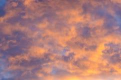 Niebo, chmura i słońce Obrazy Royalty Free