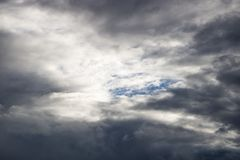 Niebo chmura przed deszczem I atmosfera Fotografia Royalty Free