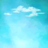 Niebo chmurnieje wektorowego tło Zdjęcie Stock