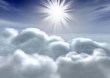 niebo, chmury royalty ilustracja