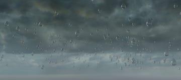 Niebo chmury burzy deszczu kropli formacja ilustracja wektor