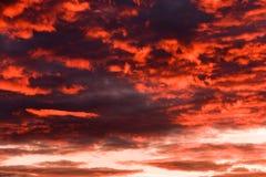 Niebo, chmury i afterglow, Zdjęcie Stock