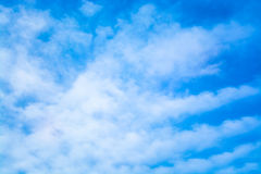 niebo, chmury niebieski tinted Fotografia Stock