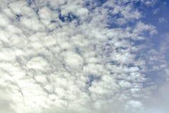 niebo, chmury niebieski tinted Obrazy Royalty Free
