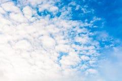 niebo, chmury niebieski tinted Fotografia Royalty Free
