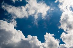 niebo, chmury środowisk cl Zdjęcie Royalty Free