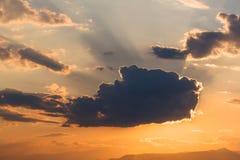 niebo, chmury słońca Zdjęcia Royalty Free